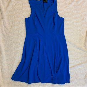 Cynthia Rowley  Blue Sleeveless Pleated  1X Dress